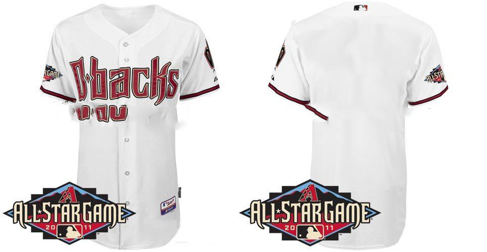 Arizona Diamondbacks 2011 All-Star Authentic Jerseys #Blank White Baseball Cool Base Jersey