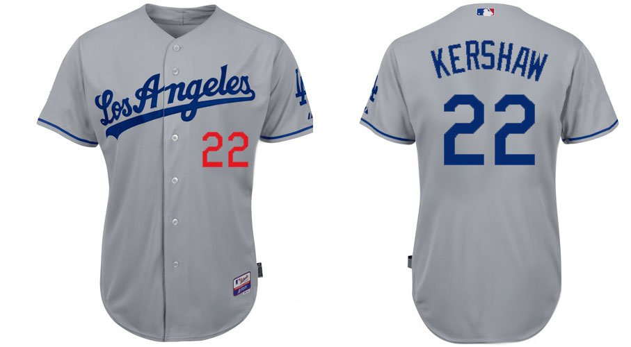 Arizona Diamondbacks Jerseys #22 Clayton Kershaw Grey Baseball Jersey