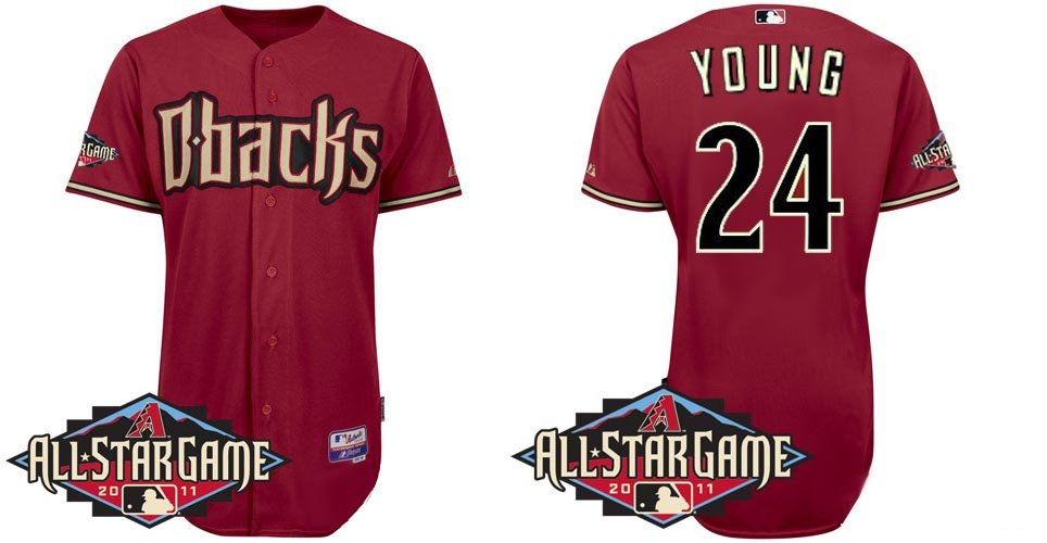 Arizona Diamondbacks Jerseys #24 Chris Young Authentic Baseball Wear