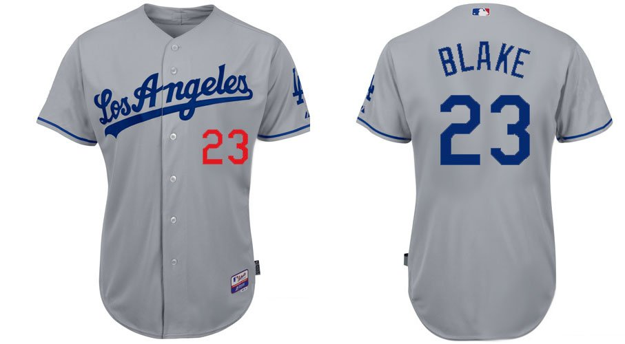 Arizona Diamondbacks Jerseys #23 Casey Blake Grey Baseball Jersey