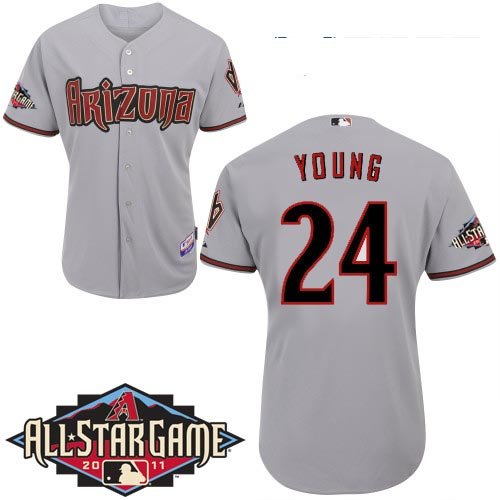 Arizona Diamondbacks Jersey #24 Chris Young Authentic All-Star Baseball Jerseys