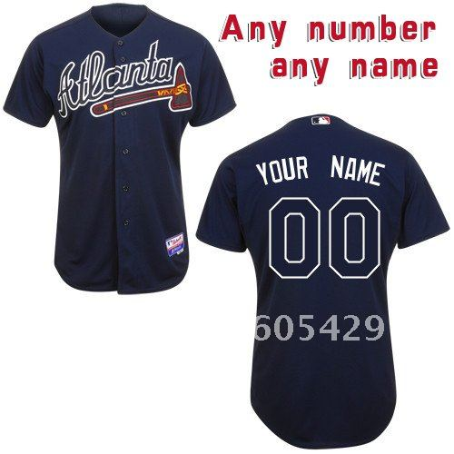 Customized Products Atlanta Braves Make Any Name and Number Baseball Jerseys