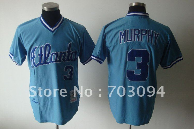 Free Shipping Atlanta Braves #3 Murphy Jersey, Baseball Jerseys, Sports Wear
