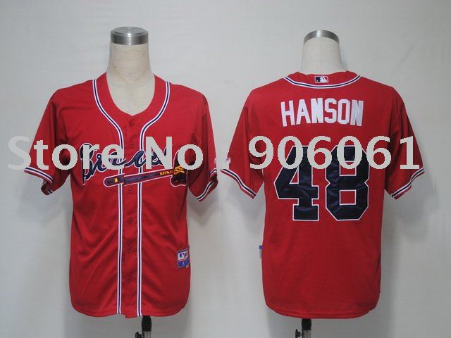 Atlanta Braves Jerseys #48 Hanson, Baseball jerseys, Cheap Jerseys