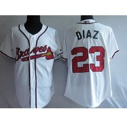 Atlanta Braves 23# Diaz White Jersey, Baseball Jerseys