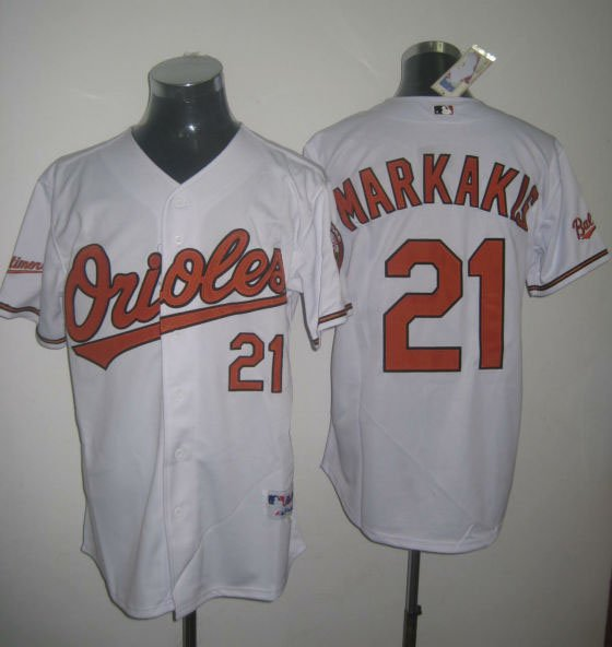 2011 Newest Baltimore Orioles Jerseys #21 Markakis Jersey, Baseball / Softball Jerseys