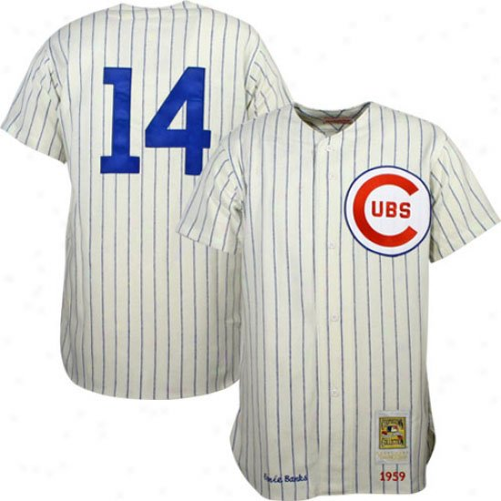 Anti-UV Chicago Cubs Throwback #14 Ernie Banks White Baseball Jerseys