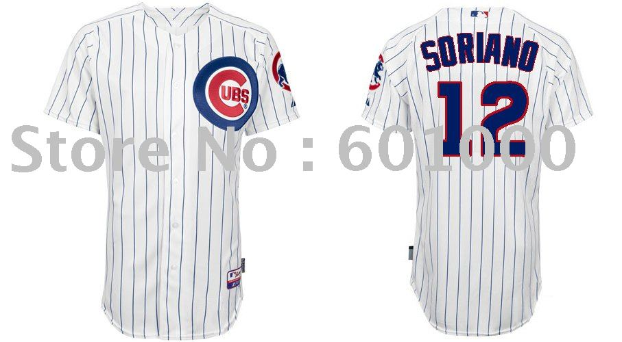 2011 Chicago Cubs Authentic Jerseys #12 Soriano White Baseball Cool Base Jersey