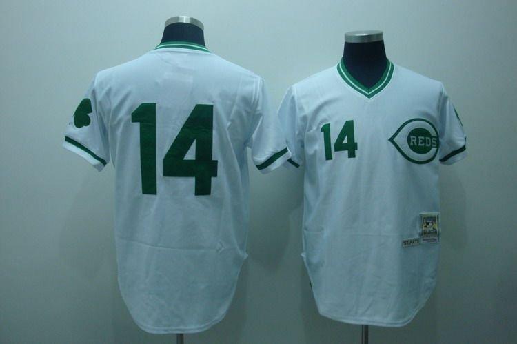 #14 Pete Rose White Blank Jerseys, Cincinnati Reds Baseball Jerseys