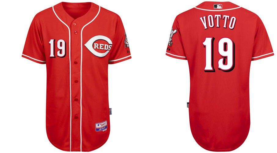 Cincinnati Reds Jerseys #19 Joey Votto Red Baseball Jersey