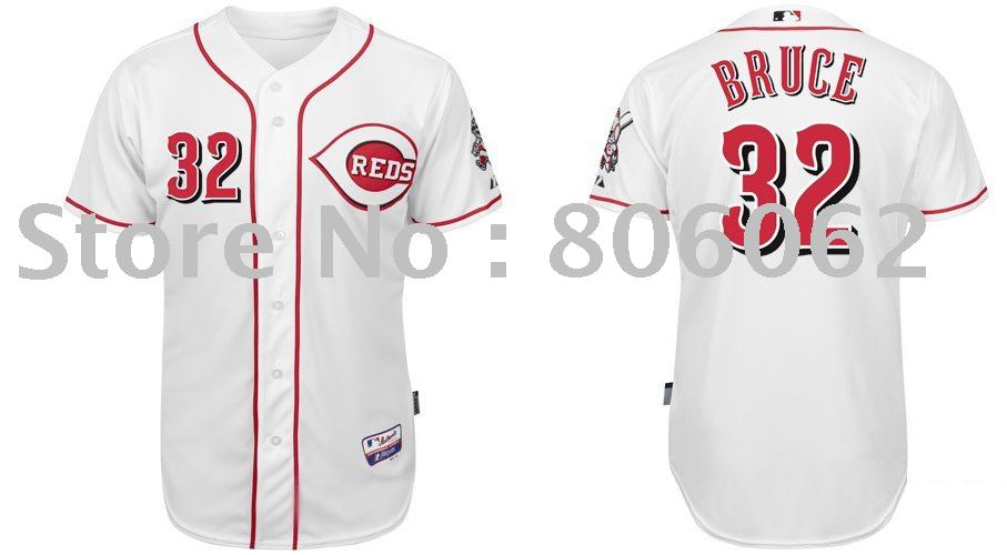 Top Quality Cincinnati Reds Baseball Jerseys #32 Jay Bruce Sport Jerseys