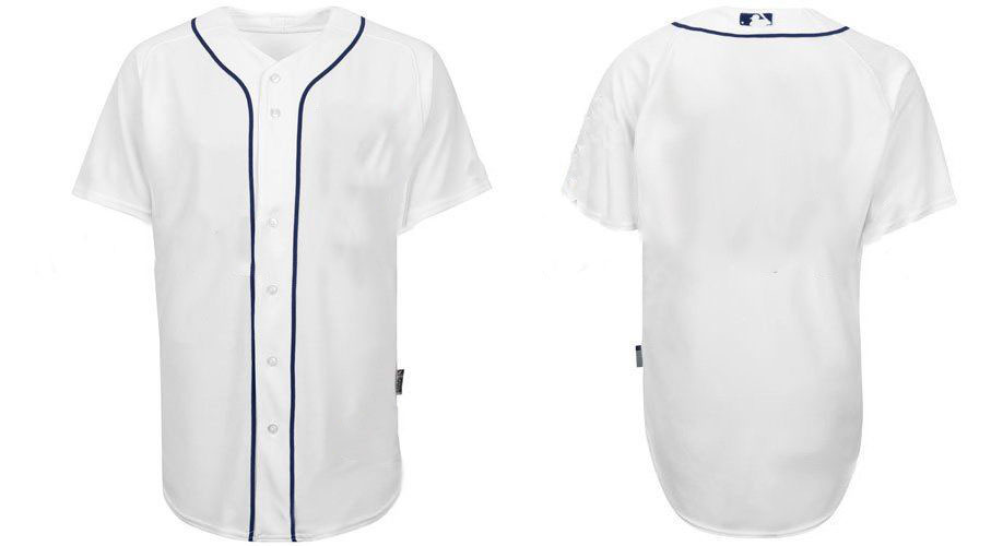 2011 Detroit Tigers Blank White Baseball Jerseys Authentic Jersey