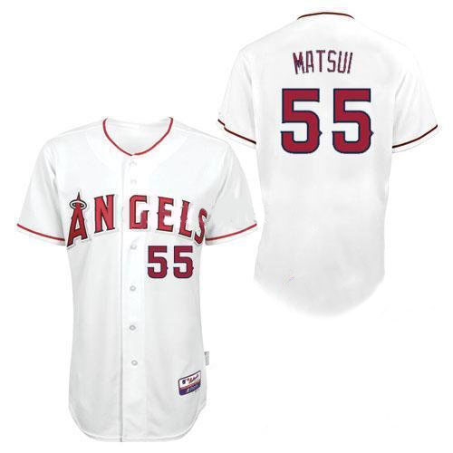 Angels of Anaheim Jerseys #55 Hideki Matsui White Baseball Jersey All Star Los Angeles