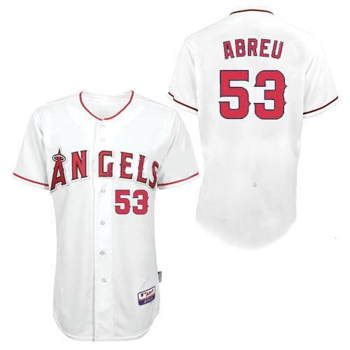 Angels of Anaheim Jerseys #53 Bobby Abreu White Baseball Jersey Size 44-56 All Star  Los Angeles