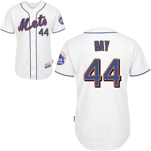 New York Mets Jerseys #44 Bay White Baseball Jersey Size 44-56 (XS-3XL)