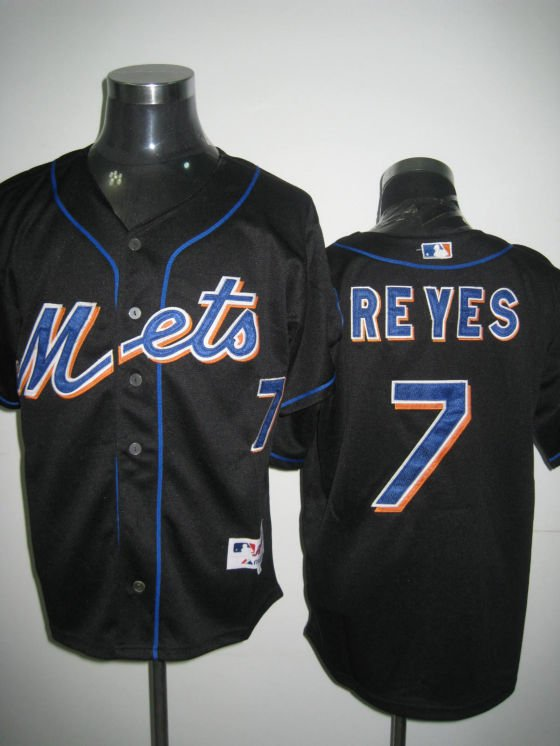 Free Shipping, #7 Jose Reyes New York Mets Baseball Jerseys