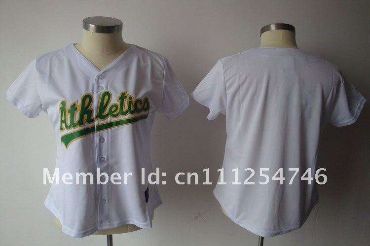 2011 New Style Women Jerseys Oakland Athletics White Women's Blank Baseball Jerseys Sport Jerseys