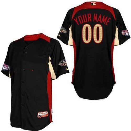 All star National Washington Nationals Baseball Jerseys #00 Any Name Customized Black Jersey