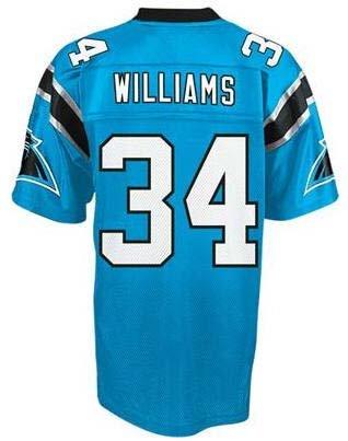 Carolina Panthers Jerseys #34 DeAngelo Williams Blue Football ...