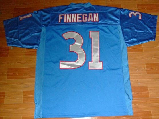 Tennessee Titans #31 Cortland Finnegan Baby Blue With 50TH Patch Football Authentic Jersey 48-56