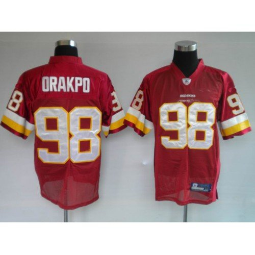 Breathable V-neck Jersey Washington Redskins 98 Brian Orakpo Football Jerseys Size 48-54, Free Shipping Sport Jerseys