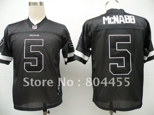 Washington Redskins Polyester Non-mesh Jersey #5 Donovan McNabb Black Football Jerseys Size:48-56