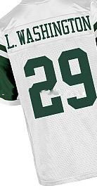 Wholesale High Quality Jets #29 L.Washington White Football Jerseys Stitched Name and Number