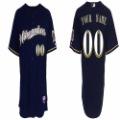 Milwaukee Brewers #00 jerseys Blue Baseball Wear jerseys