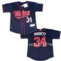 Free Shipping Throwback Jerseys Minnesota Twins # 34 Kirby Puckett Dark Blue Baseball Jerseys
