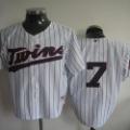 Free Shipping #7 Mauer White 2011 Minnesota Twins Hot Selling Baseball Jerseys