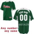 Customized Products Philadelphia Phillies Green Color Make Any Name and Number Baseball Jerseys Allow Mix Order