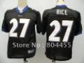 Non-mesh Baltimore Ravens #27 Ray Rice Football Jerseys Size:48-56