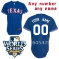 Customized Products World Series Texas Rangers Make any Name and Number Baseball Jerseys