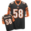 Black & Orange Short Sleeve With Horizontal Stripes Bengals Jersey
