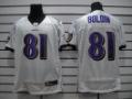 Free Shipping ! #81 White Boldin Jersey, Baltimore Ravens Jersey, Football V-neck Jersey